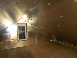 A Silver Spring attic with SuperAttic installed.