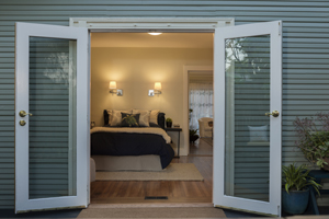 Hinged patio door