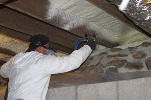 Spray Foam in the crawl space in Gaithersburg